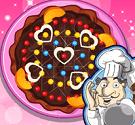 Bánh pizza valentine